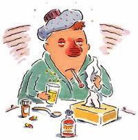 afflicted with a rhinovirus