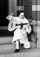 That's the flinging blonde, not the singing nun.