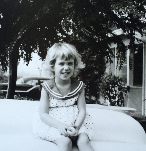 Age three or four, as I was transitioning to my true hair color. Fortunately, no need for a separate bathroom.