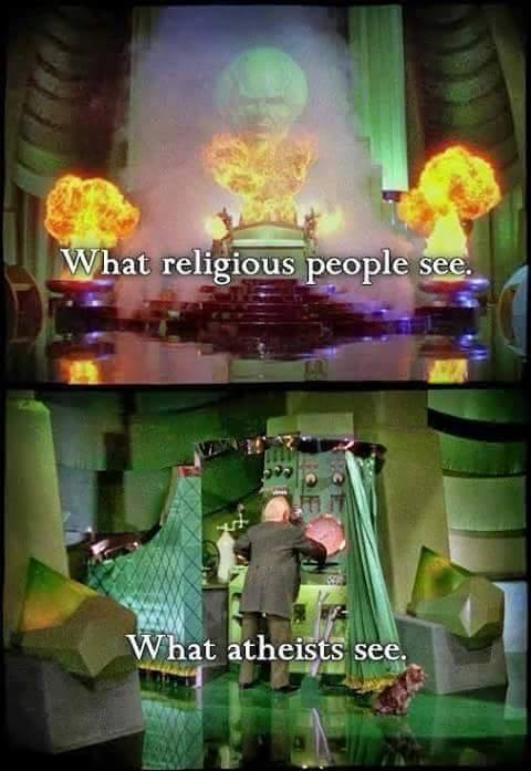 what religious people see