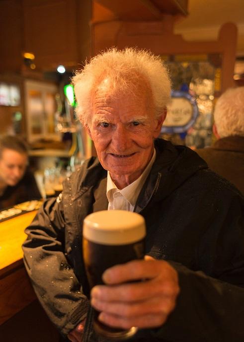 Portrait of old irishman in pub, Killarglin, Ireland.