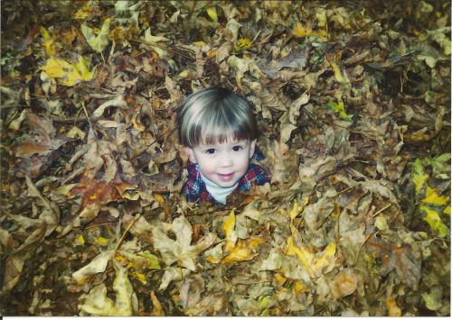 Eli In Leaves 1995